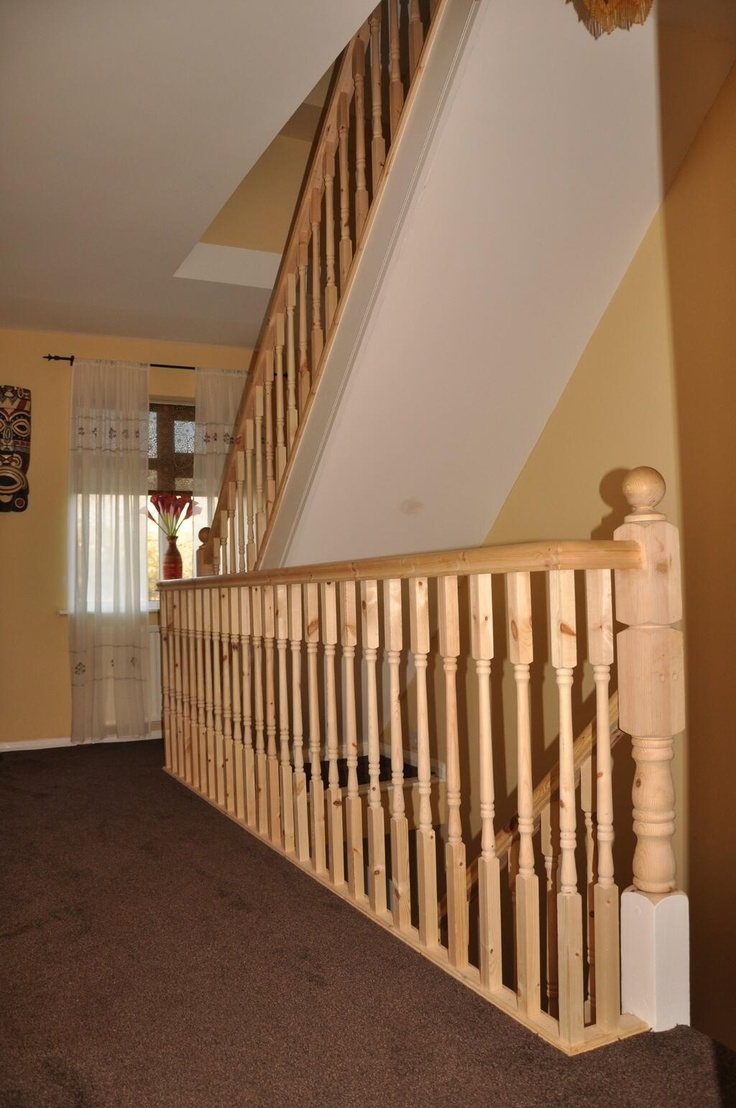 new balustrade fitted to landing and new stairs to loft. Black Bedroom Furniture Sets. Home Design Ideas