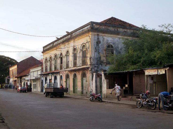 The urban landscape of Sao Tome, São Tomé and Príncipe, hasn't changed much since Portuguese colonial times.