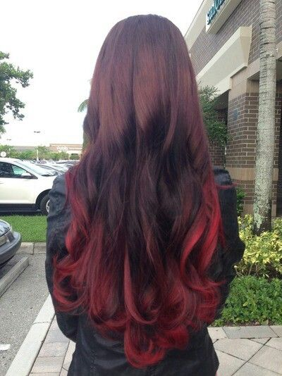 65 best images about red burgundy ombre hair styles extensions on pinterest burgundy clip - Ombre hair marron ...
