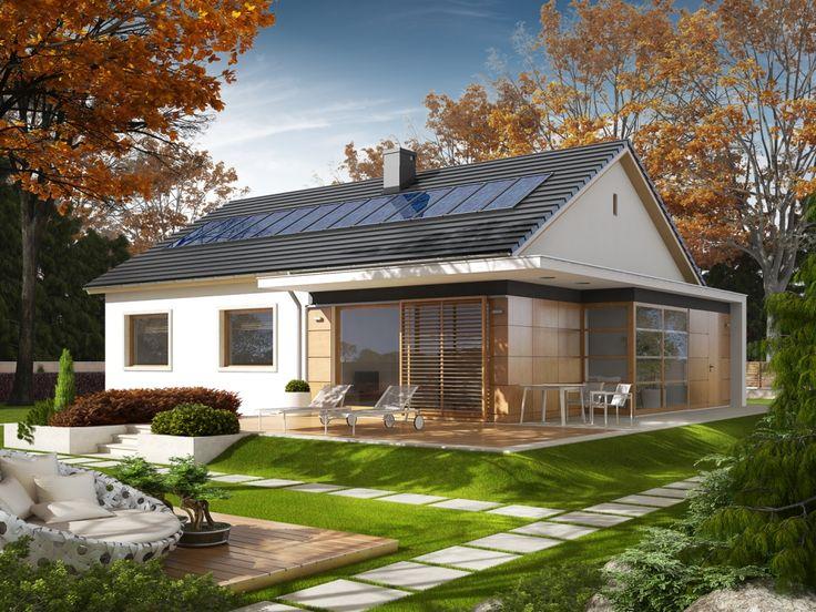 Projekt domu AC Emi - DOM AF1-90 - gotowy projekt domu
