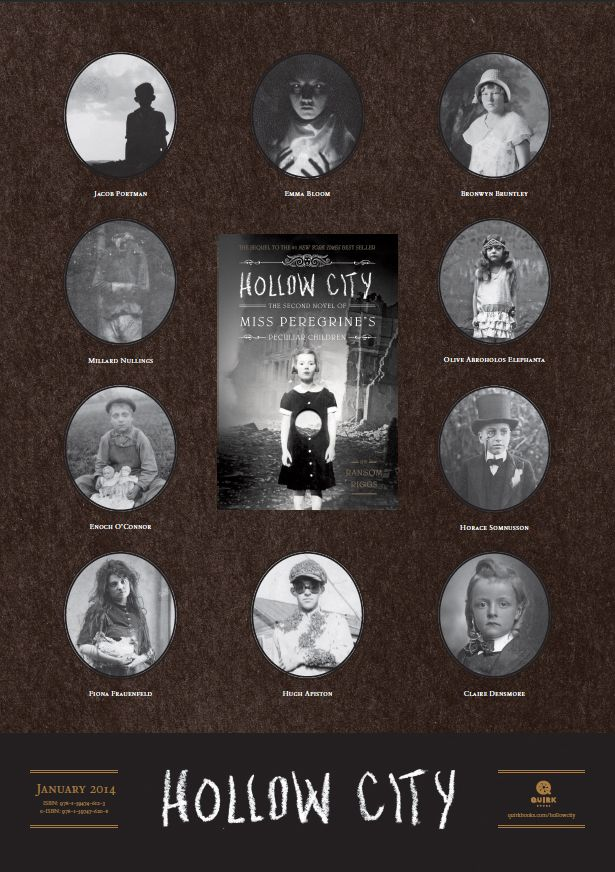 Hollow City Poster Giveaway! (The 2nd Novel of Miss Peregrine's Home for Peculiar Children)