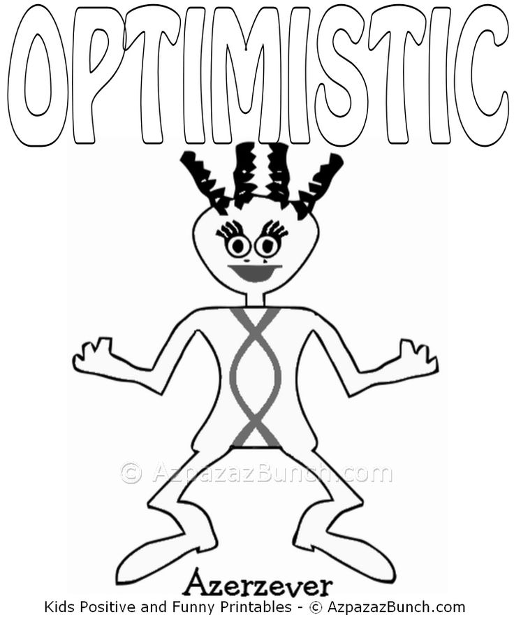 Azerzever Optimistic Printable Coloring Page Fun Childrens Pages