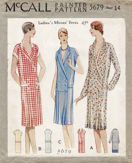 McCall 5679; ©1929; Ladies' & Misses' Dress
