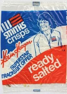 Old Smiths Crisps packet featuring a Kevin Keegan tracksuit offer!