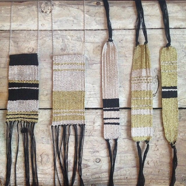 In love with these woven jewelry pieces by @Kevin Moussa-Mann Abaziou. Perfectly priced for #holidaygiftideas #friendshipbracelet #weavelove (at Demimon...