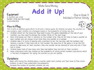 Maths Game Monday