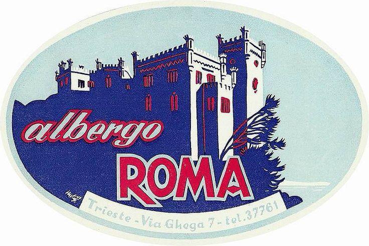 https://flic.kr/p/AqAYPr   Trieste Hotel Roma   Luggage Label, Etichette Bagaglio, Trieste.