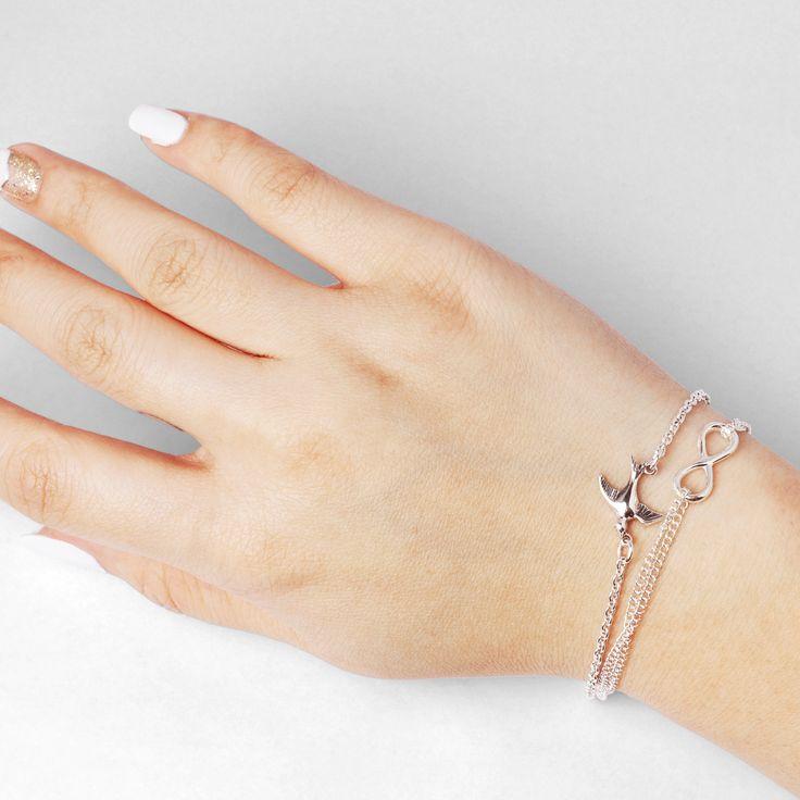 Swallow sterling silver bracelet #pinchandfold #newseason