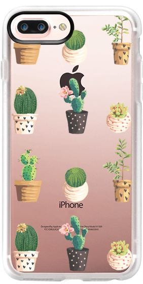 Casetify iPhone 7 Plus Case and other Mexican iPhone Covers - Cactus and Succulent by Ruby Ridge Studios | Casetify