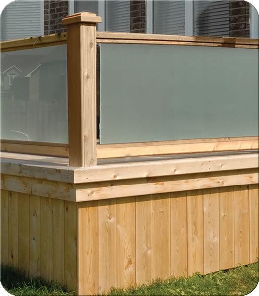 Glass/Wood Railing| Fence-All