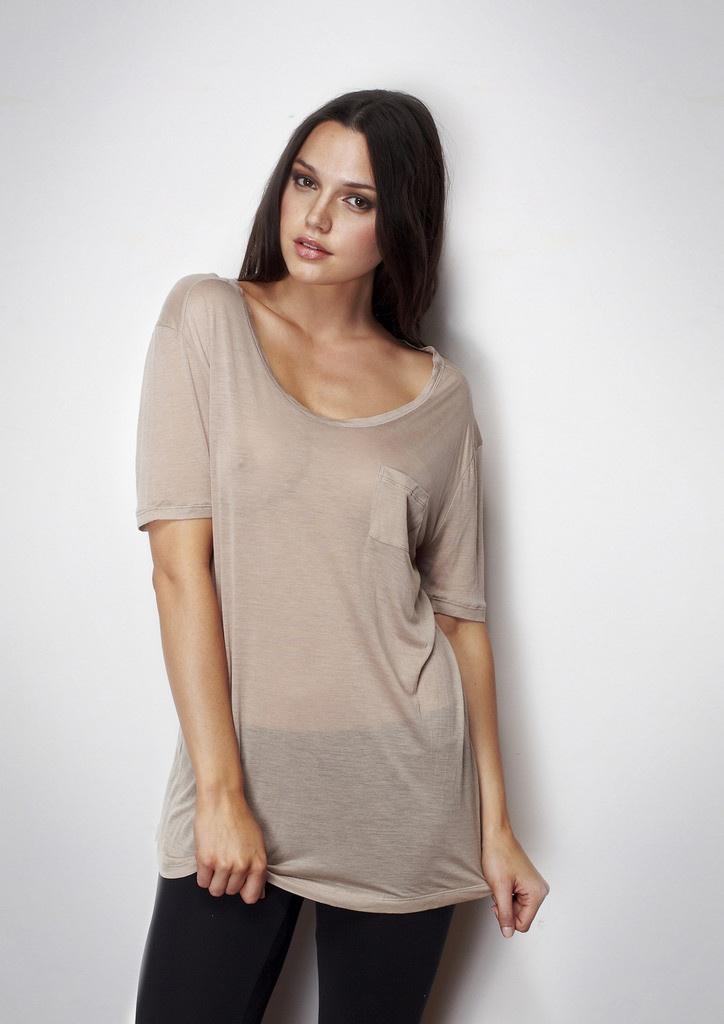 Modal T-Shirt Sheer Scoop - Elegance is often simple