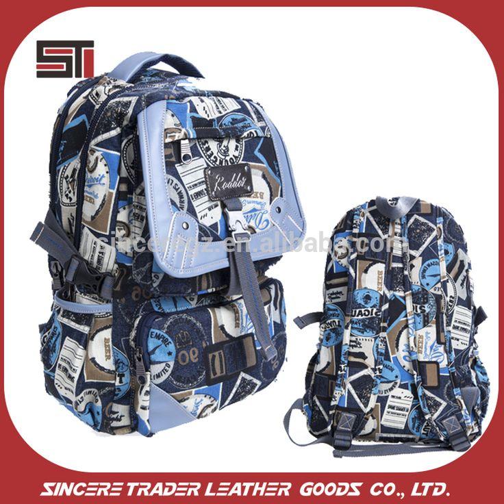printed canvas bag wholesale school backpack bag custom backpack manufacturer 16SC-5380D