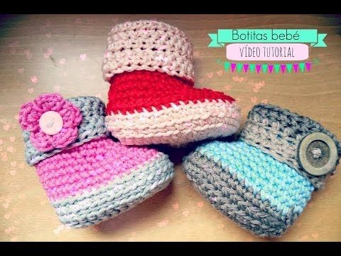▶ Como hacer unas botitas de bebé de ganchillo - Crochet baby Booties - YouTube