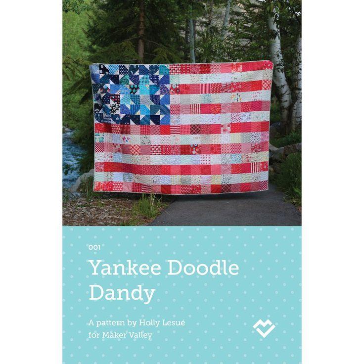 Yankee Doodle Dandy - USA Flag Quilt Pattern - Downloadable PDF