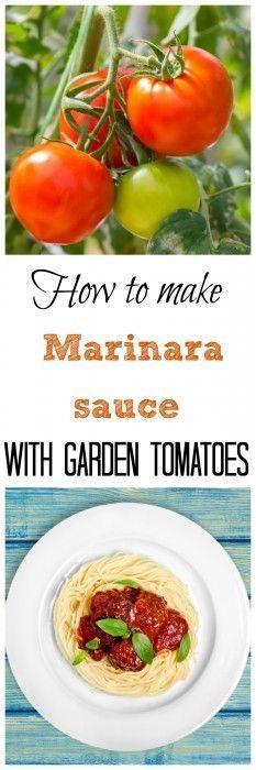 Homemade Marinara Sauce: Learn how to make delicious Marinara sauce with garden tomatoes | Farm To Table | Garden Fresh Foods | Tomato Sauce Recipe | Italian Gravy Recipe