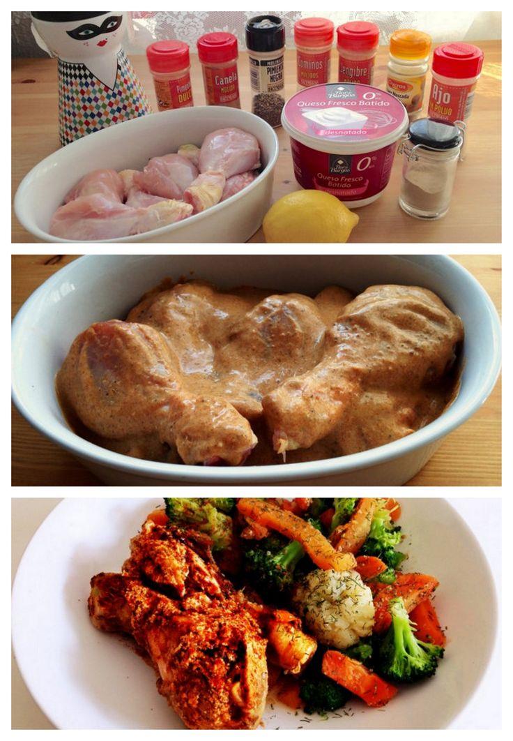 Receta pollo tandoori casero