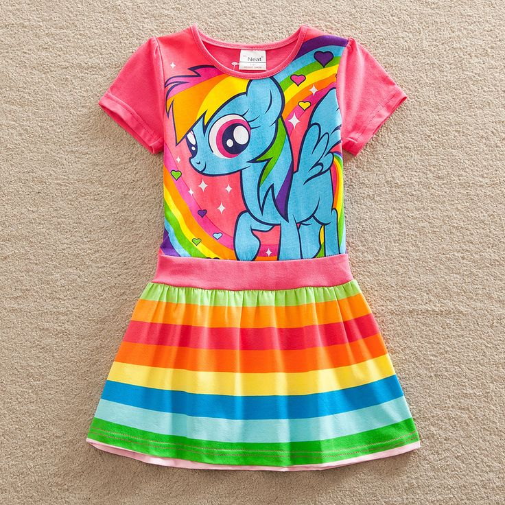 Christmas Baby girl dress my little pony summer cotton child dress kids clothes wear children dress baby girls clothes SH6218