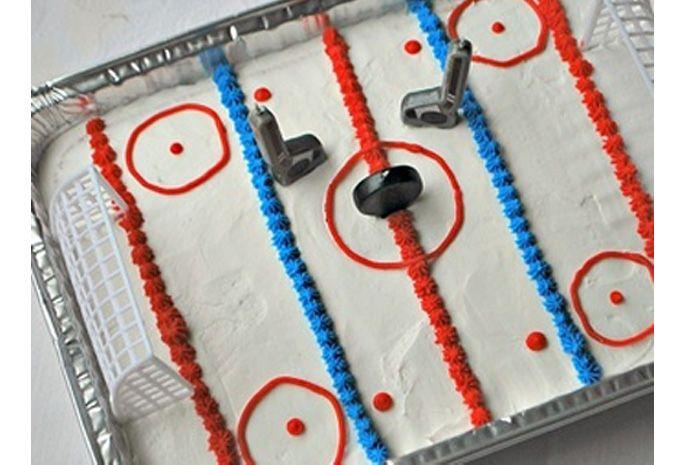 Ice Rink Birthday Cake