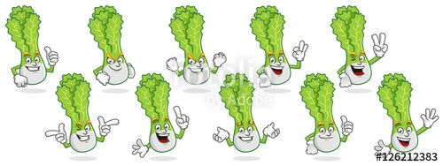 "Download the royalty-free vector ""Vector pack of lettuce mascot, vector set of lettuce character, lettuce cartoon vector"" designed by ednal at the lowest price on Fotolia.com. Browse our cheap image bank online to find the perfect stock vector for your marketing projects!"