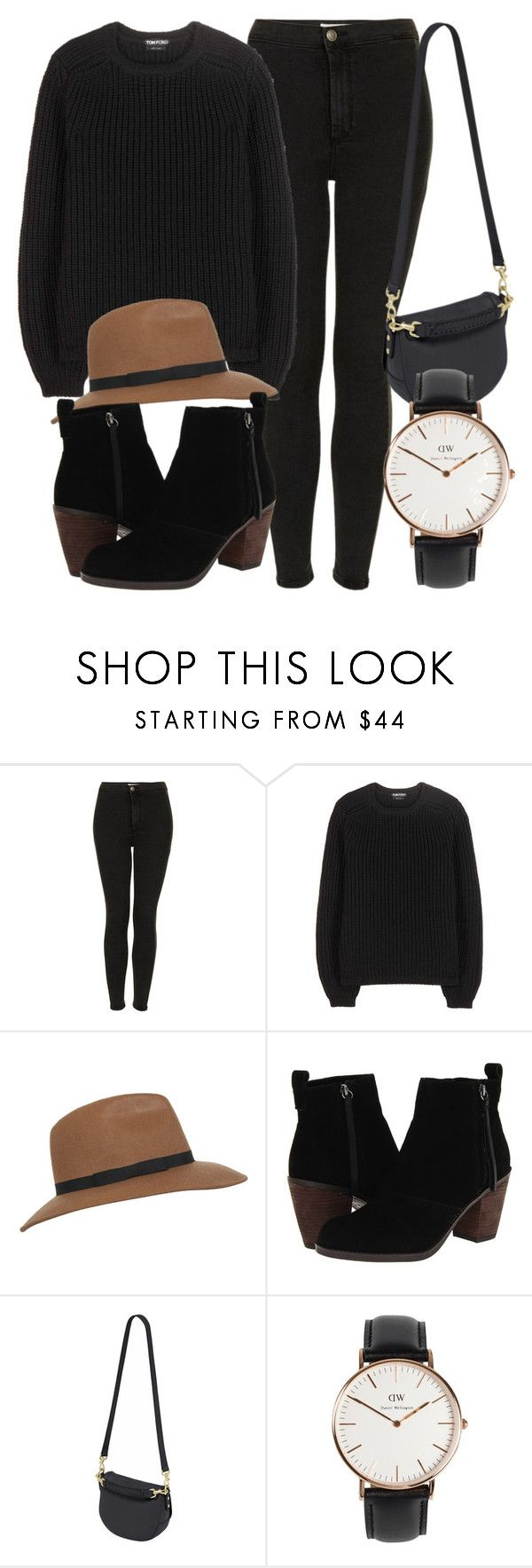 """""""Untitled #5364"""" by laurenmboot ❤ liked on Polyvore featuring Topshop, Tom Ford, Miss Selfridge, Dolce Vita, Mulberry and Daniel Wellington"""