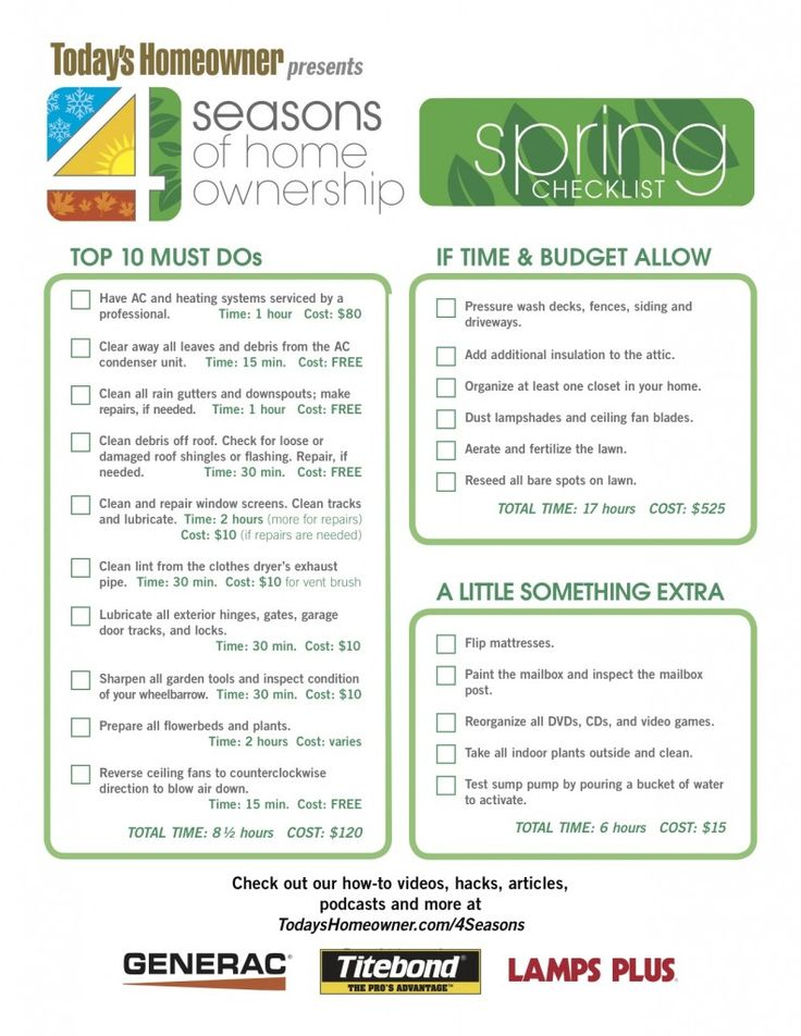 free printable home maintenance checklist nyt template seasons ownership spring chores broken