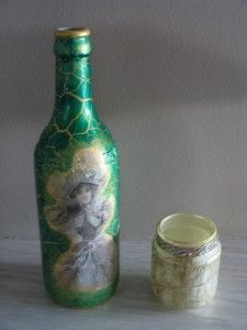 Lady in Crackle Bottle