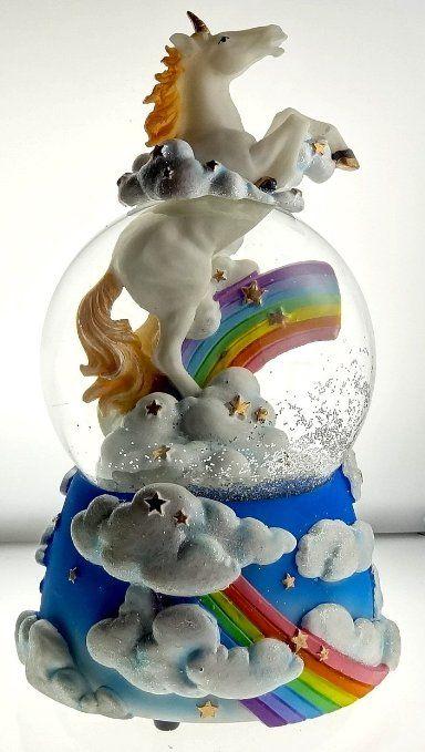 "Amazon.com - Sculptured Mystic Unicorn Snow Globe - Water Ball Musical "" the Unicorn "" 7 3/4"" High"
