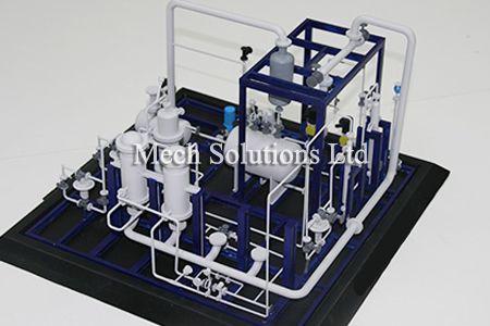 3D Printing, chemical plant model based on design, high precision, fine details, photopolymer, SLA, low cost, low timeline