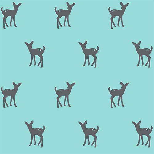 Modern Reflection Aqua Fawn - 1/2 yard