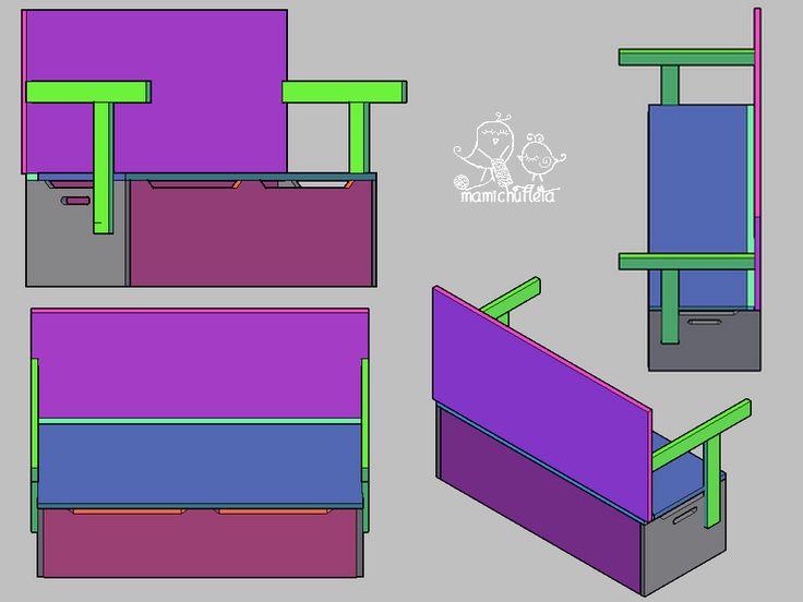 C mo hacer un banco infantil con ba l de almacenaje convertible en escritorio hacer bricolaje for Escritorio infantil