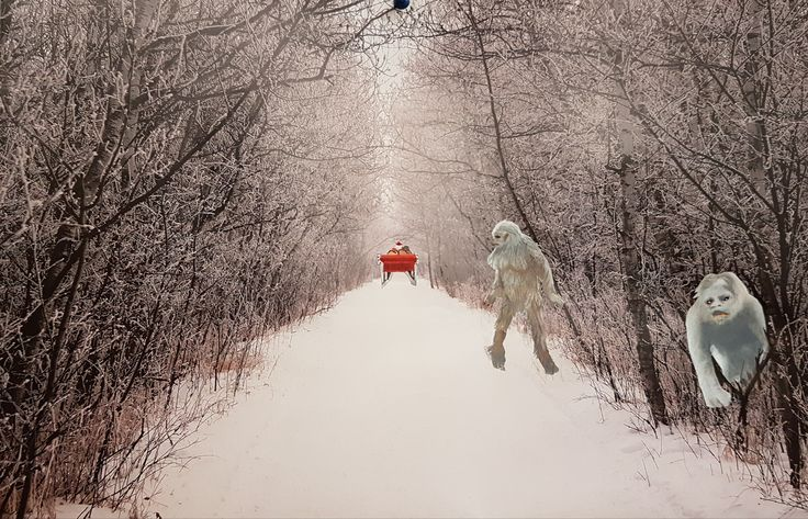 December 2017_Altered Art_Wall Calendar_dF  (Here Comes Santa)