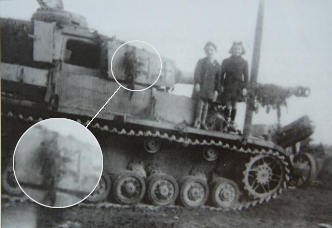 """This Panzer IV was definitively a LSSAH vehicle ( Lodieu said II./33 in his book """"Argentan à la Seine"""" ) Number 711, it was destroyed or captured on the road Argentan - Mortrée, this picture was taken in a dump..."""