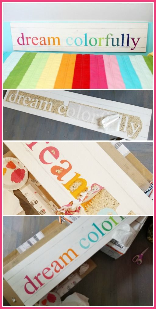 Add color to your child's room with an inspirational wall sign, courtesy of Sugar Bee Crafts. This colorful sign is simple enough for a weekend project. Click in for the full guide.