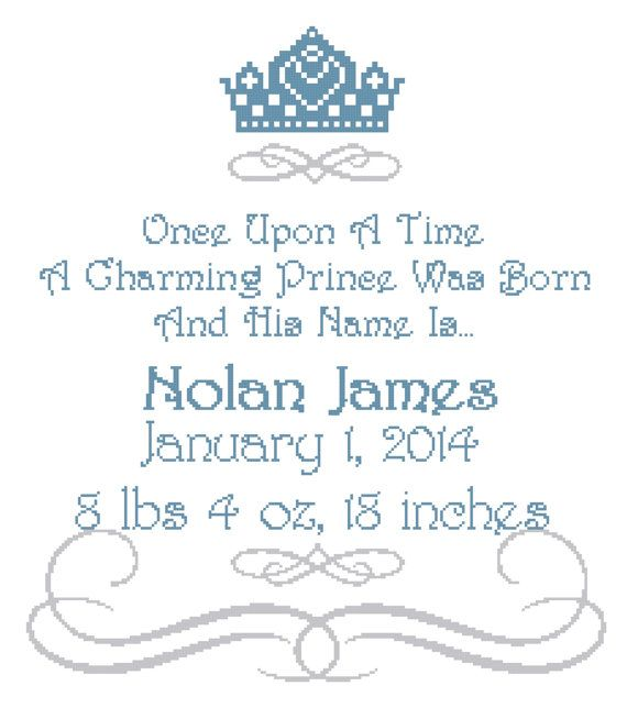 Once Upon a Time Prince Wall Art Cross Stitch by SherrysHouse, $10.50
