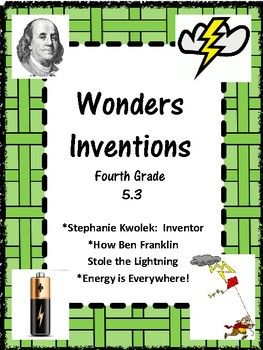 Wonders McGraw Hill Grade 4 Unit 5 Week 3 Inventions This study guide includes: Spelling: three lists, Home Note, sorts, flashcards, alphabetizing, sentences, syllabication Vocabulary: Home Note, Sentences, Box/Square, Flashcards, matching, glossary/dictionary activity Comprehension Questions/Answers three selections Comprehension Skills: