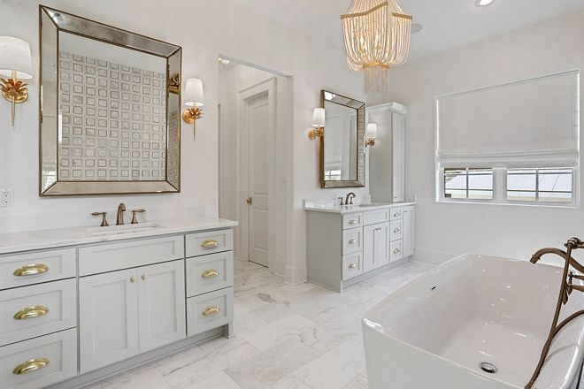 Oystershell By Benjamin Moore Oystershell By Benjamin Moore Bathroom Vanity Paint Color Grey Cabinets Oyste New Orleans Homes Bathrooms Remodel Interior Design