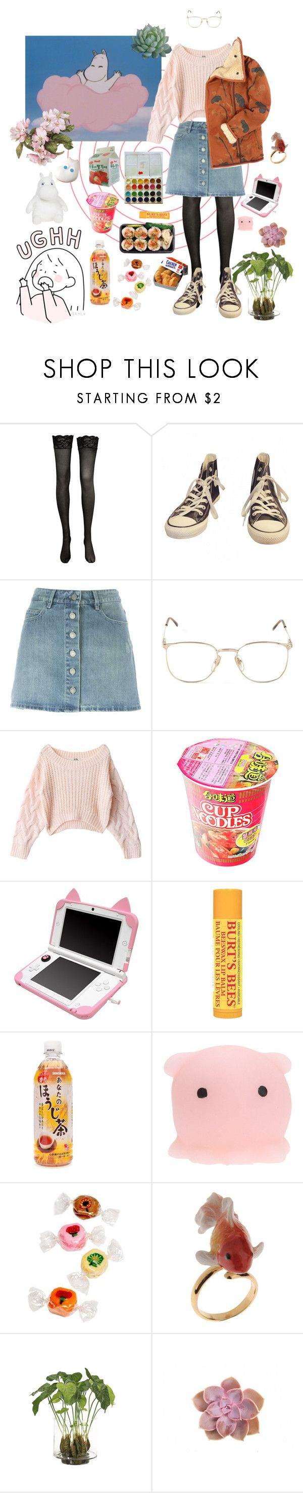 """moomin"" by thestarrynightsky ❤ liked on Polyvore featuring Converse, Étoile Isabel Marant, Persol, Scotch & Soda, Burt's Bees, Nach and NDI"
