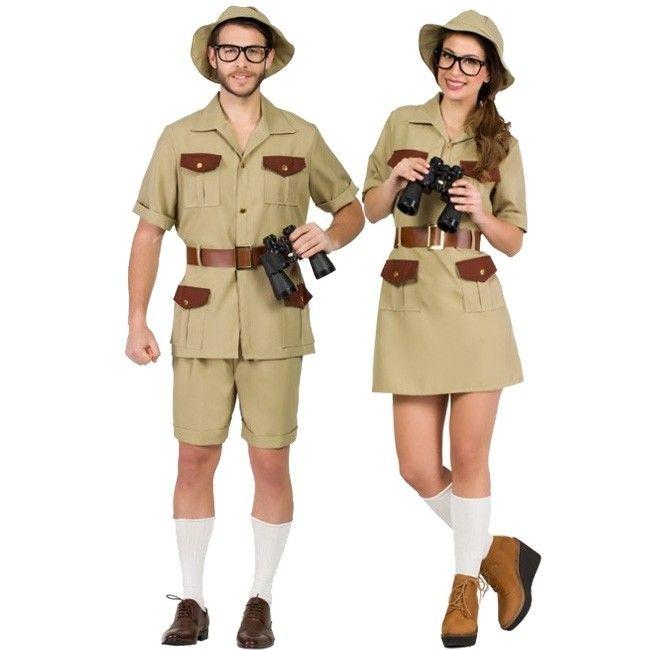 Déguisement exploratrice,Explorateur,Safari,adulte,femme,Carnaval,Costume,Fête