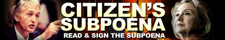 Benghazi Bombshell: Will Hillary be forced testify under oath? THAT'S WHERE YOU COME IN...Sign the Citizen Subpoena. stophillarypac.org/citizens-subpoena/f-b/