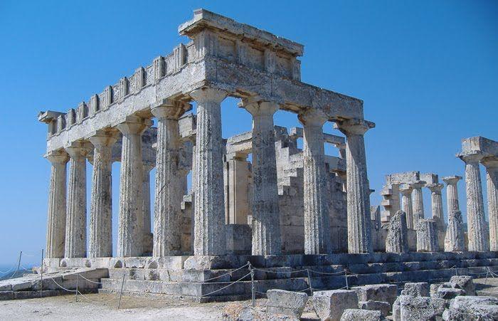 Esempio di tempio diptero,tempio di Artemide, VI secolo a.C,Efeso.