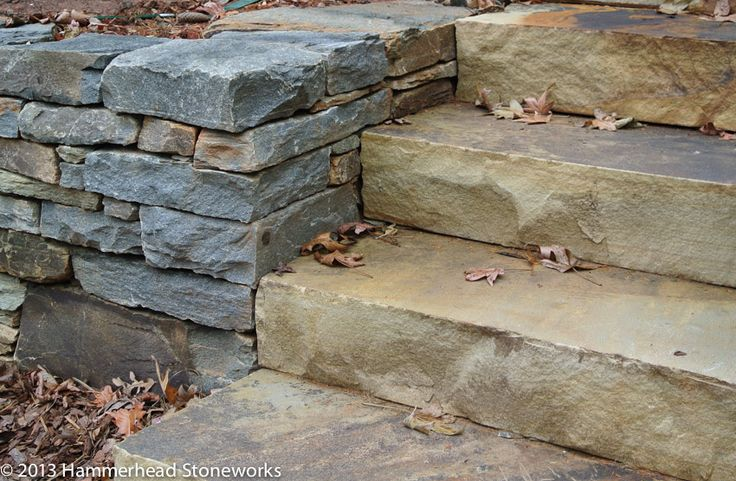 how to build stone garden steps