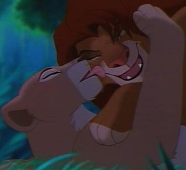 day 5 favorite kiss simba and nala it 39 s a really good movie and sad but still it 39 s a. Black Bedroom Furniture Sets. Home Design Ideas