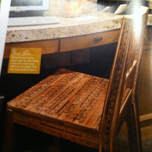 Wonderful Yardstick Chair Rail Part - 11: Cool Yard Stick Chair. O WOW!