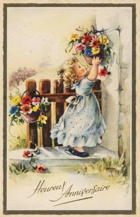 Прикольные, с днем рождения поздравления ретро открытки