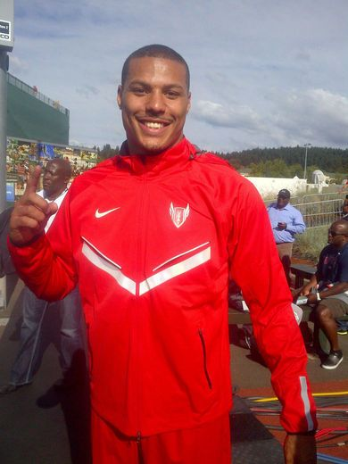 Ryan Bailey  Hometown: Portland, OR  First Sighting: Men's 100m  In June, 23-year-old Ryan Bailey finished third in the 100 meter race at the U.S Olympic track and field trails, securing a spot on USA's 2012 summer Olympics team. He started running his sophomore year of high school and has overcome both homelessness and gang violence to make his dream come true. Standing at 6-foot-4, 180 pounds, Bailey has had an amazing season. Look out for him during the Men's 100m and Men's 4x100 Relay…