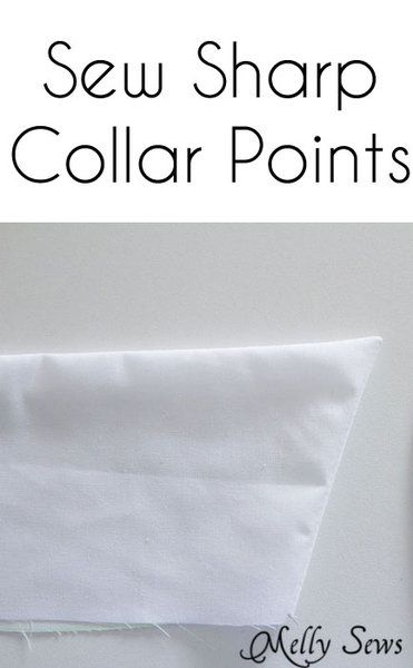 How to sew sharp points on collars - http://mellysews.com