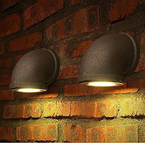 kinine Decoración Industrial simplicidad Edison Mini pared de cristal apliques de pared exterior rústico Vintage Lámpara Luz de Forma 044 lámparas de pared: Amazon.es: Iluminación