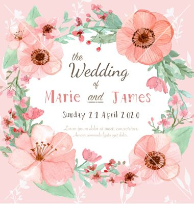 907 best wedding invites images on pinterest invites weddings and flower invitation card vector by mayps on vectorstock stopboris Image collections
