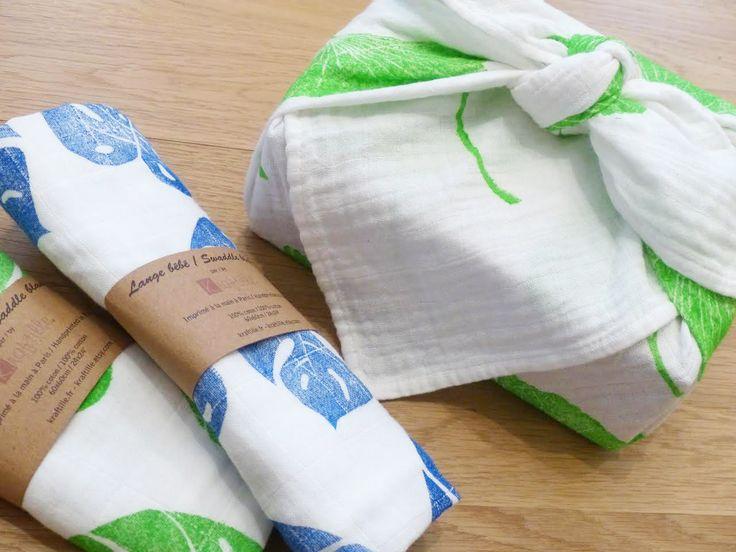 Atelier gravure de tampon et personnalisation d'un furoshiki avec Kraftille