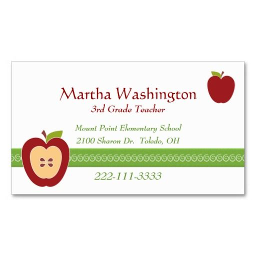 Best Teacher Business Cards Images On Pinterest Teacher - Teacher business card template